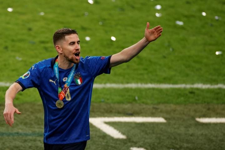 Jorginho, élu meilleur joueur de l'année par l'UEFA. AFP