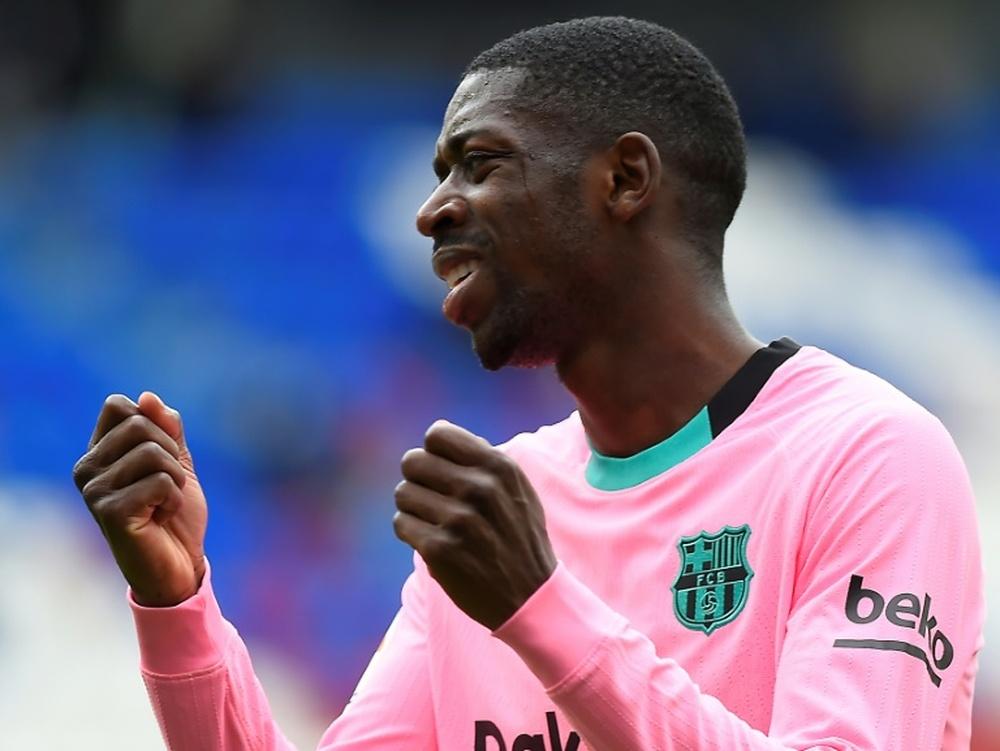 Dembélé quer continuar, mas seu agente o ofereceu a vários clubes. AFP
