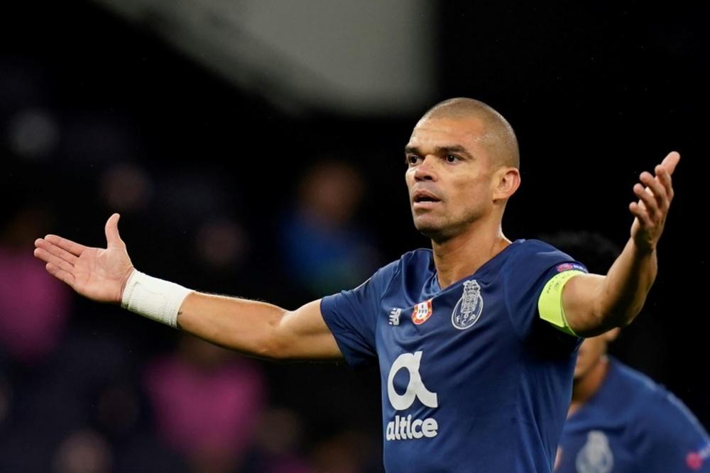Pepe, con problemas físicos. AFP