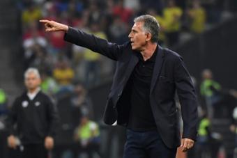 Queiroz cree en la recuperación de Colombia. AFP