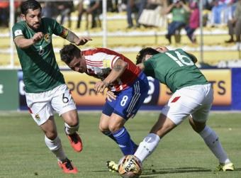 Bolivia ganó a Paraguay con un tanto en propia puerta. AFP