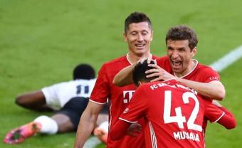 Thpmas Müller est un fan de Musiala. AFP