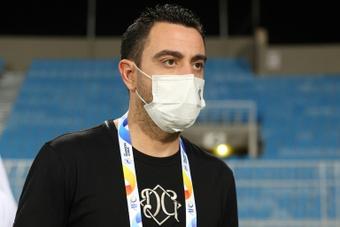 García Pimienta confía en el futuro de Xavi como entrenador. AFP