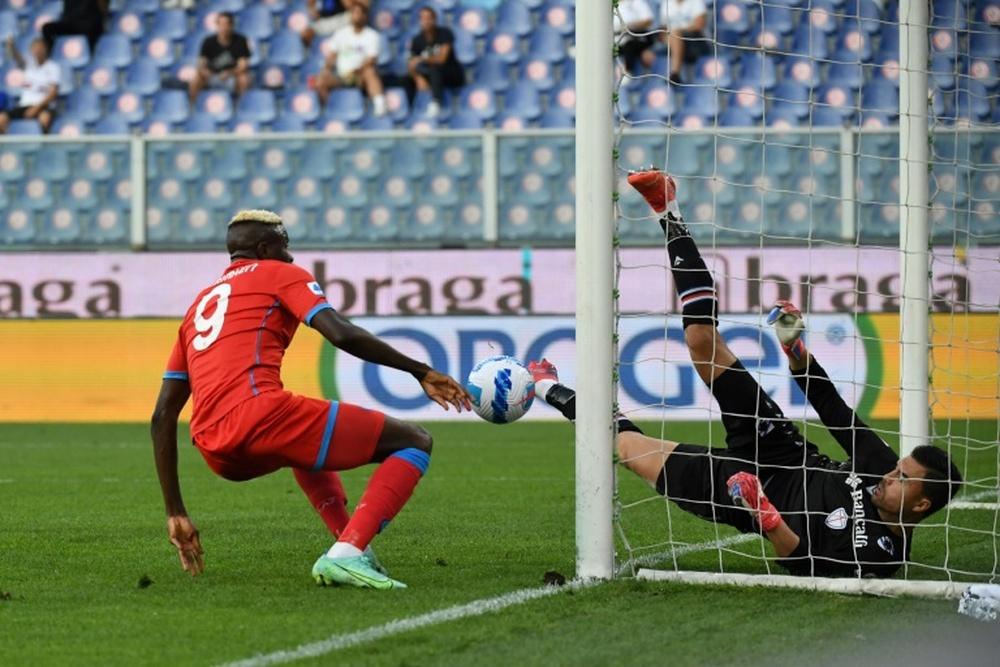 Il Napoli vince a Genova. AFP