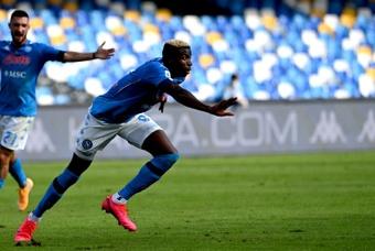 Zola sorpreso da Osimhen. AFP