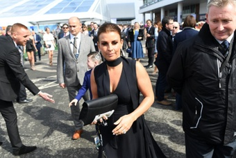 La mujer de Rooney le perdonó sus escándalos sexuales. AFP