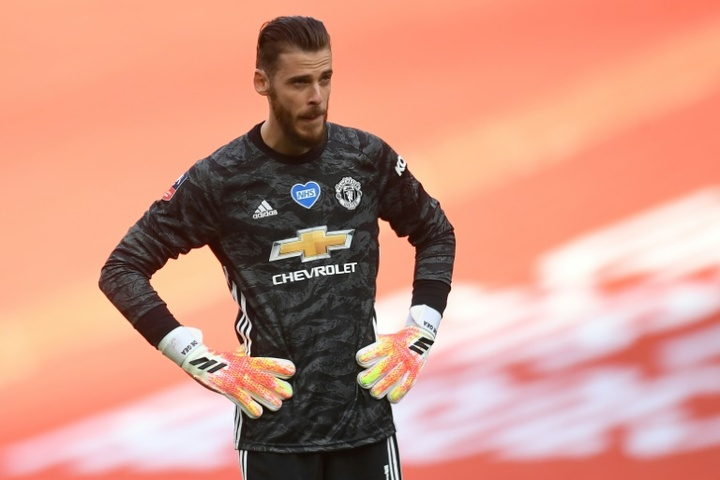 Luis Enrique will be without De Gea for the last 16 game. AFP