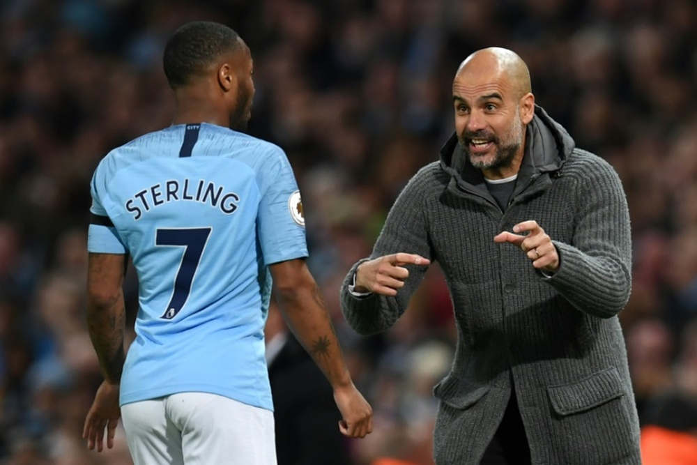 Roy Keane fala sobre a relação entre Sterling e Guardiola. AFP