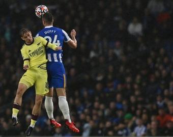 Empate a cero entre el Brighton y el Arsenal. AFP