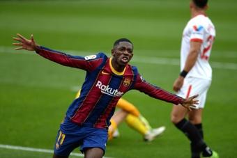 Ousmane Dembélé est en fin de contrat. AFP