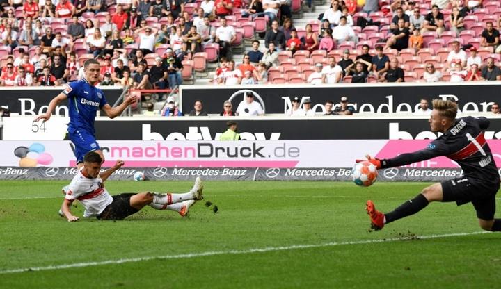 Wirtz et Leverkusen s'impose à Stuttgart malgré l'infériorité numérique. AFP