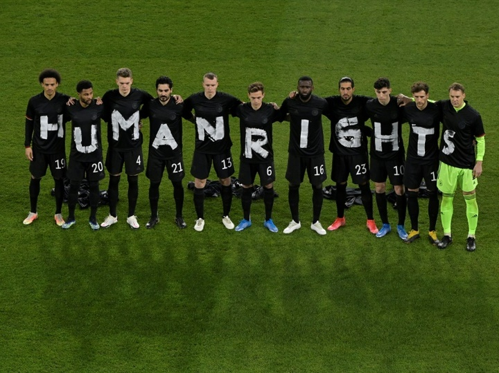 Alemania se unió a las protestas contra la FIFA y Catar. AFP