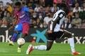Ansu Fati quase duplica os golos de Messi.AFP