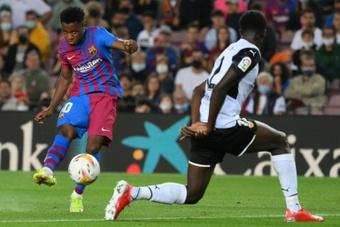Ansu Fati dépasse Messi au même âge. AFP