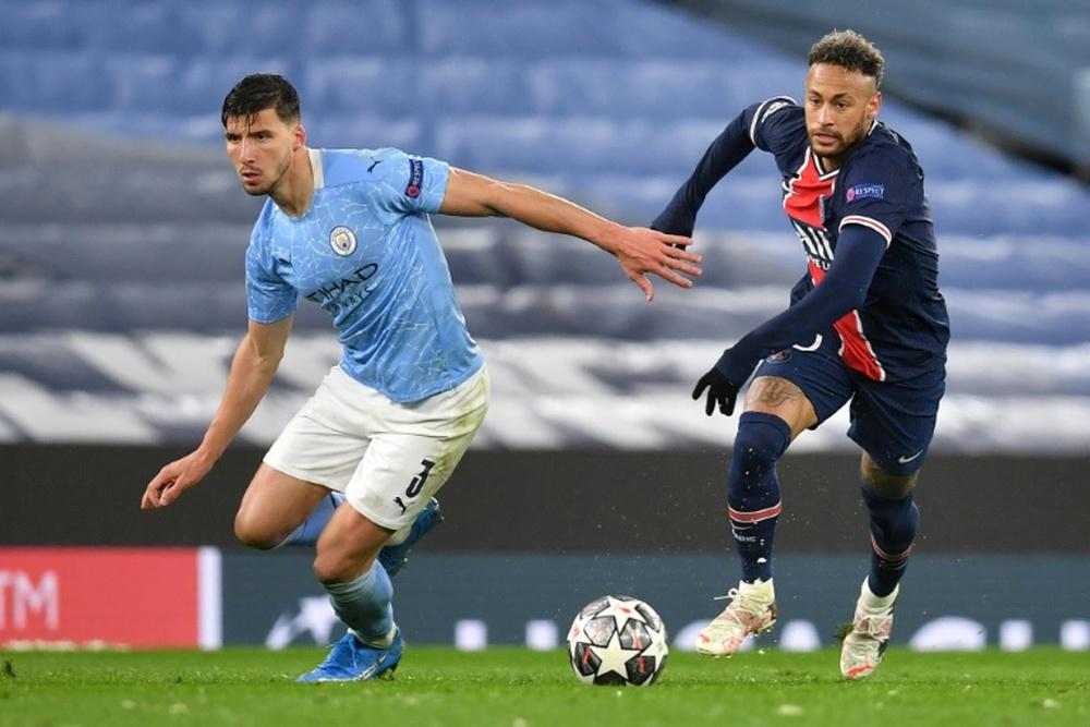 PSG y Manchester City son favoritos para alzar la Champions. AFP