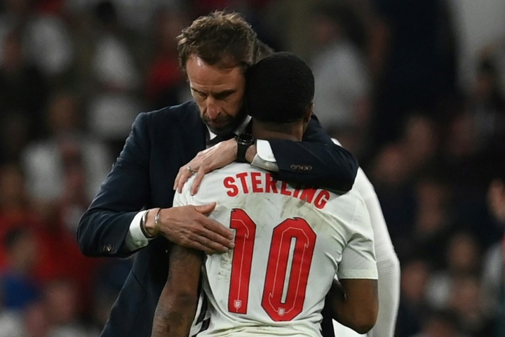 Southgate once again lost a penalty shootout at the Euros. AFP