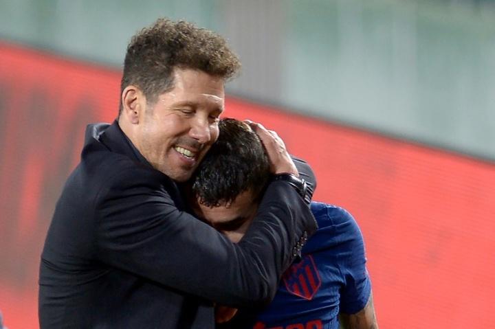 Correa gagne sa place face au Barça. AFP