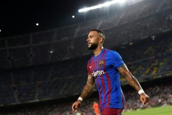 El futbolista azulgrana está feliz en el club. AFP