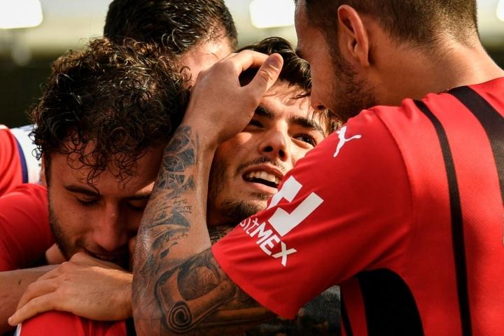 Brahim marcou o gol da vitória do Milan. AFP