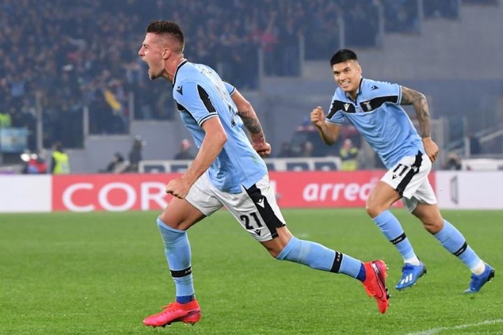 Milinkovic-Savic ne compte pas quitter la Lazio. AFP