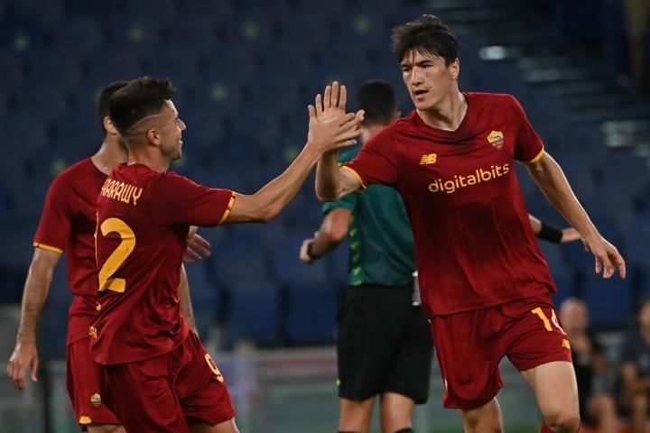 Le formazioni ufficiali di Zorya-Roma. AFP