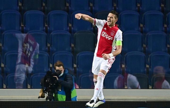 Dusan Tadic recale l'AC Milan. afp