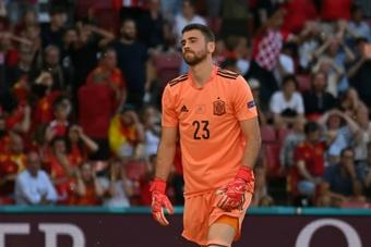 Unai Simón falou de seu erro contra a Croácia. AFP