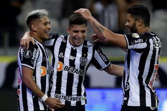 Escalação do Atlético-MG contra o Fortaleza. AFP