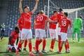El Nîmes bajó la pasada temporada a la Ligue 2. AFP