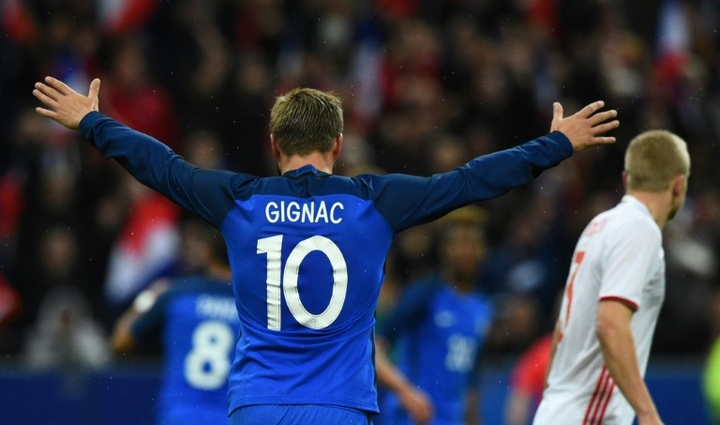 Gignac et Thauvin dans la liste pour les JO de Tokyo. AFP