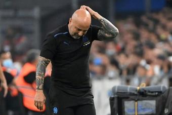 Jorge Sampaoli frustré par le match nul contre Galatasaray. afp