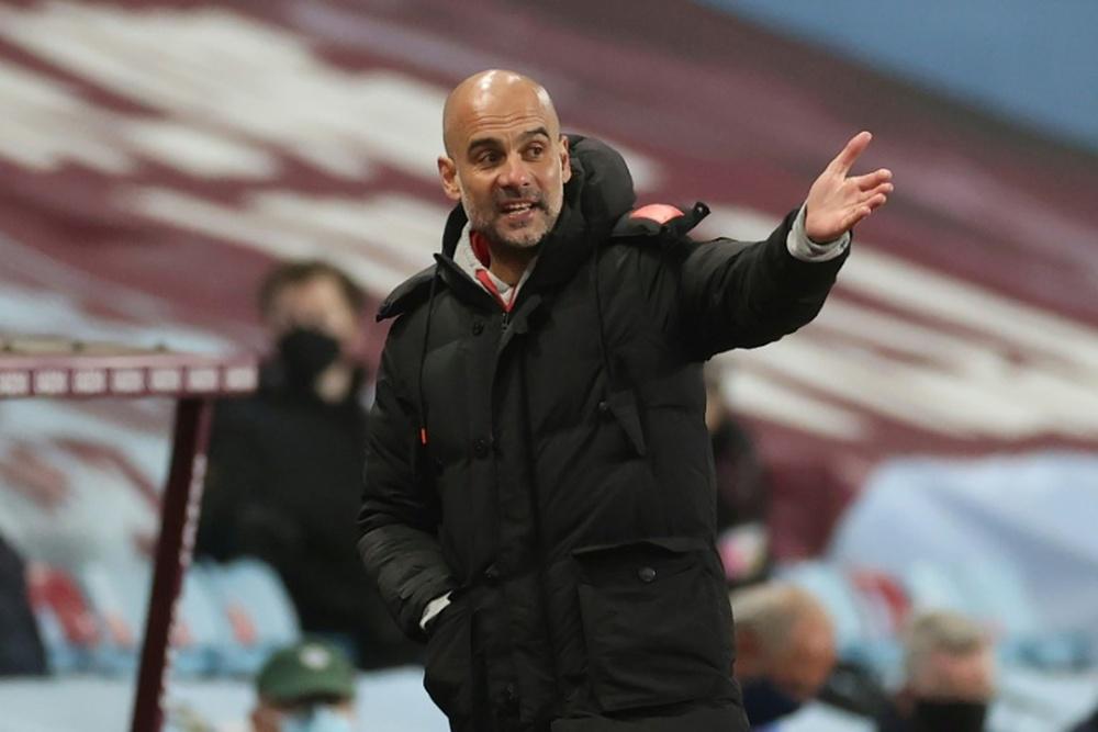 Guardiola falou após goleada na Champions. AFP