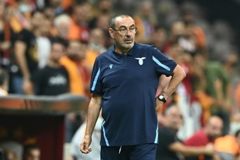 Maurizio Sarri locked his players in the dressing room for an hour. AFP