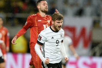 Werner scored a brace against North Macedonia. AFP