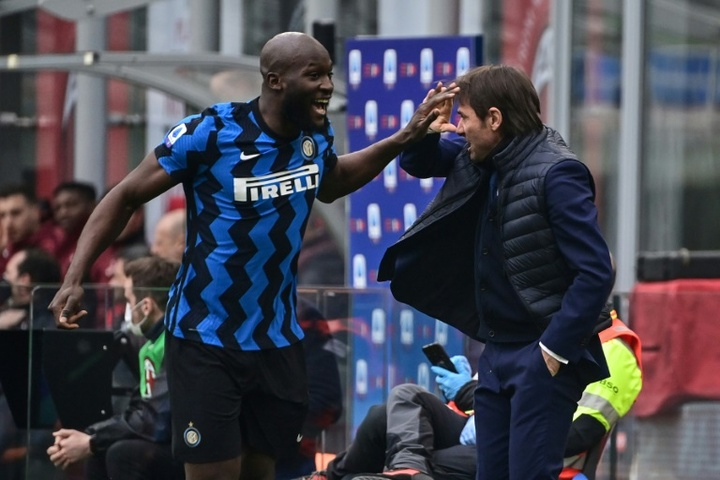 Frank Leboeuf didn't like Conte's words on Lukaku and Chelsea. AFP