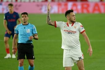 Ocampos confía en el Sevilla para la nueva temporada. AFP
