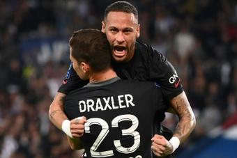 Neymar estará contra el Marsella. AFP