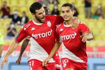 El Mónaco ganó 3-1 ante el Saint-Étienne. AFP