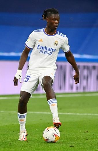 Le milieu de terrain français du Real Madrid, Eduardo Camavinga, lors du match de LaLiga. AFP
