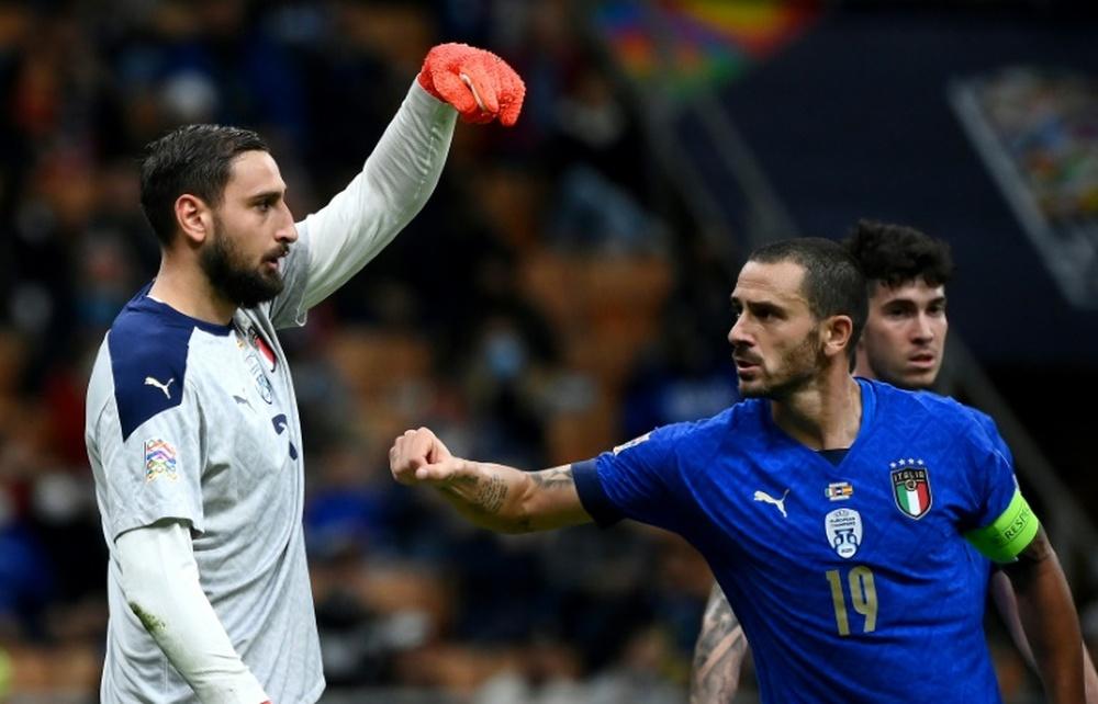Donnarumma réagit aux sifflets de San Siro lors de Italie-Espagne. AFP