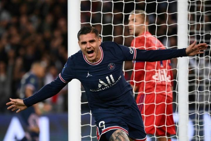 Mauro Icardi fue suplente y anotó en el alargue el gol del triunfo. AFP
