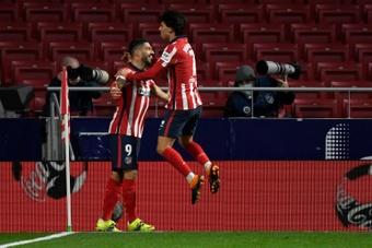 Suárez, Joao y Lemar se han convertido en el ataque sin fisuras del Cholo. AFP