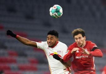 Nkunku hizo historia con el RB Leipzig. AFP