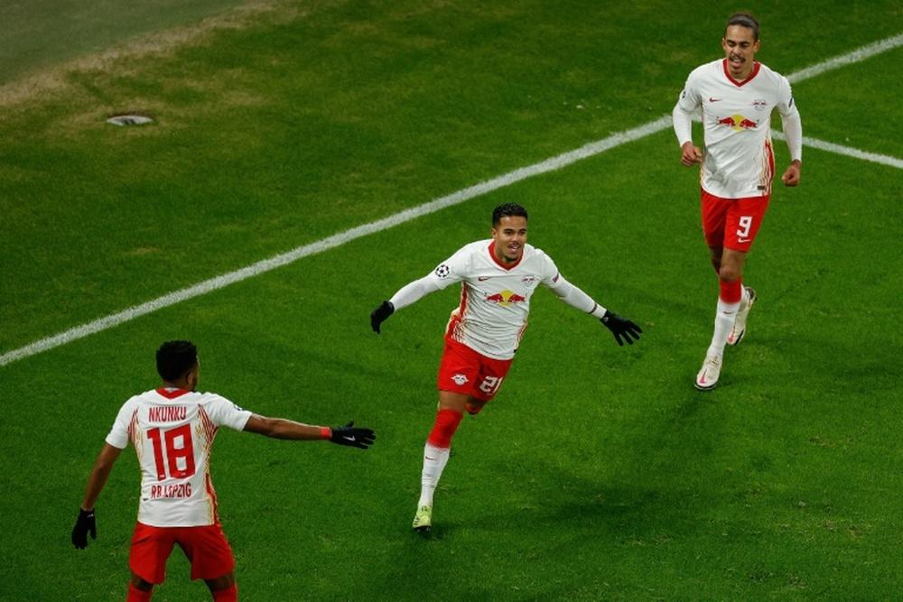 El RB Leipzig eliminó al United. AFP