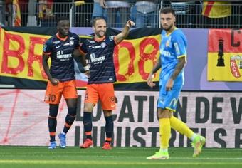 El Lens perdió ante el Montpellier. AFP