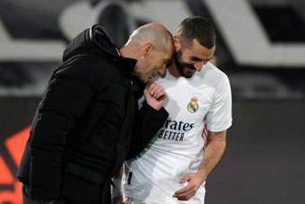 Zidane believes Benzema deserves the award. AFP
