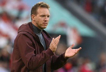 L'entraîneur du Bayern Munich, Julian Nagelsmann, lors du match de Bundesliga. AFP