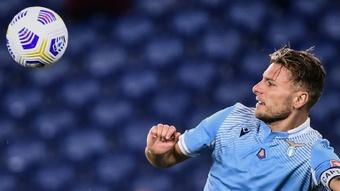 Sin anunciarlo, la Lazio hizo oficial la renovación de Immobile. AFP
