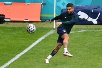 Insigne está em seu último ano de contrato com o Napoli. AFP