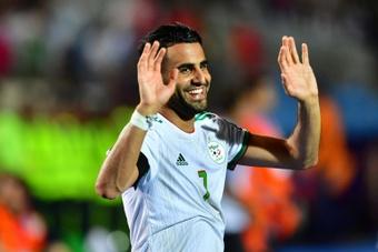 Mahrez offre un record à l'Algérie. afp